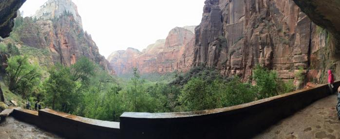 view from weeping rock
