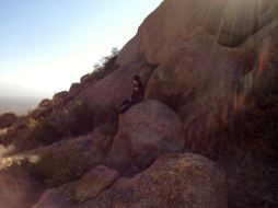 im on a rock